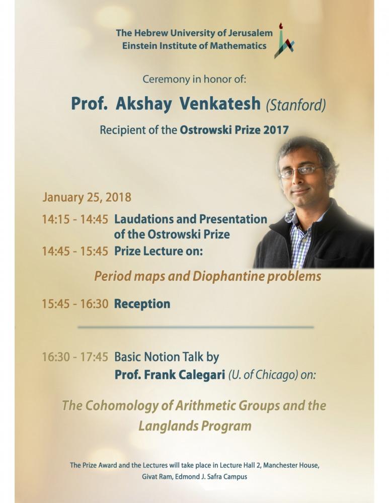 Ostrowski-prize-lecture
